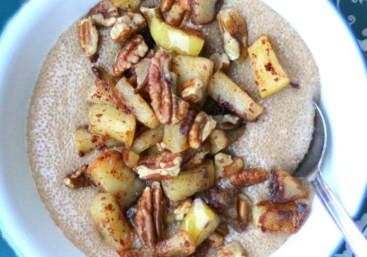 Amarantus na mleku z jabłkiem i gruszką