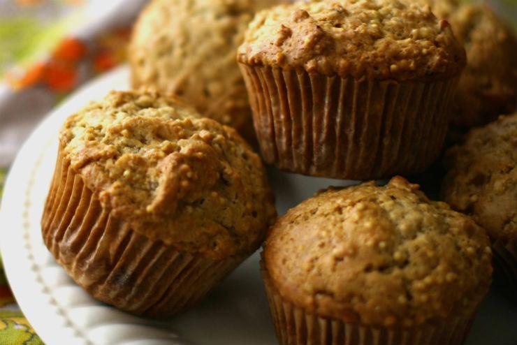 Muffinki z orzechami i kaszą jaglaną