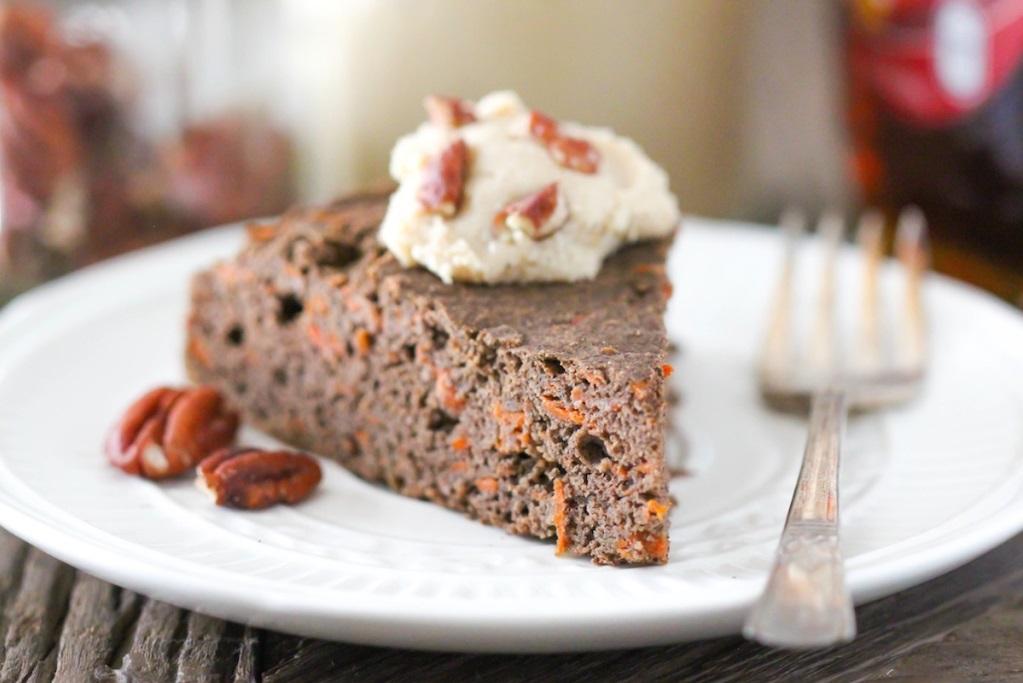 Zdrowe, gryczane ciasto marchewkowe