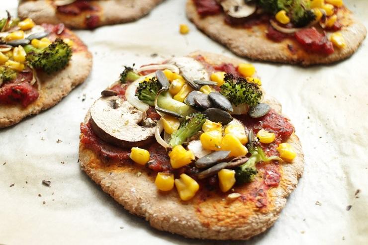 Mini pizze z warzywami