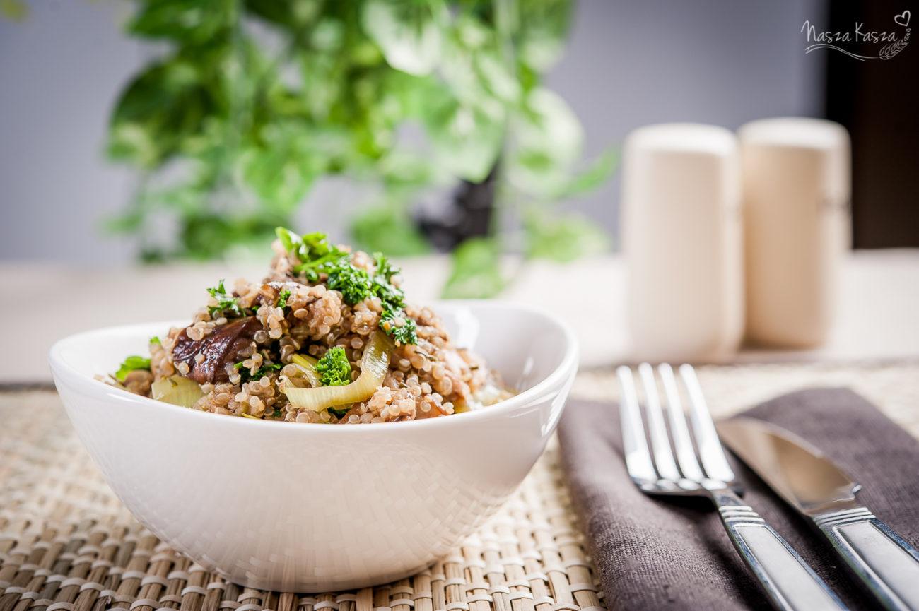 Komosa ryżowa z grzybami i mascarpone