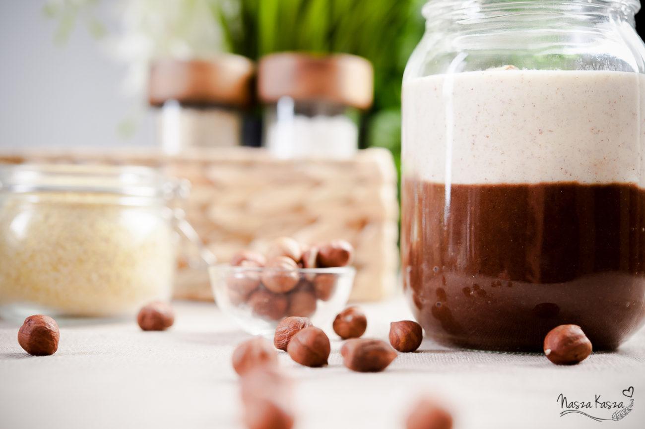 Jaglane monte z kremem czekoladowym