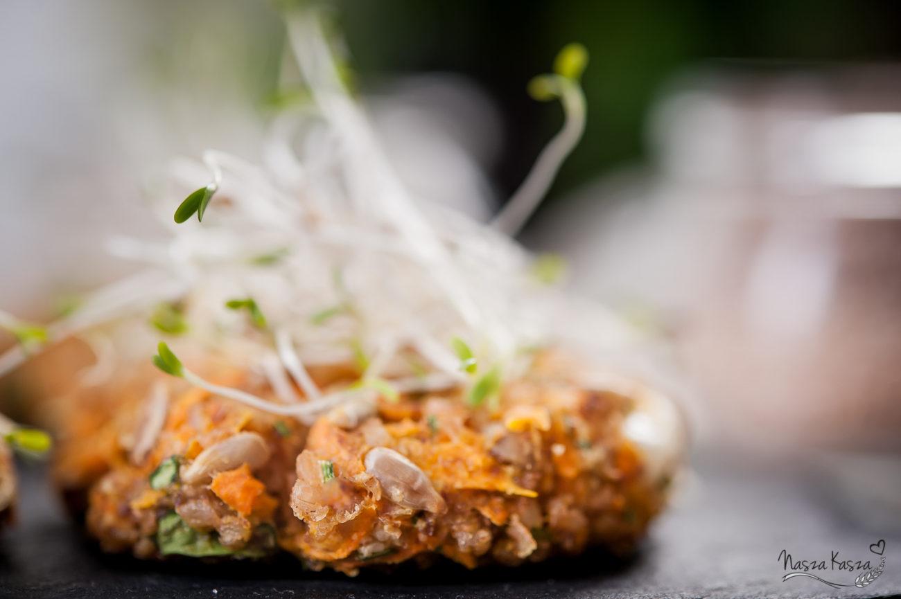 Orkiszowe kotleciki marchewkowe