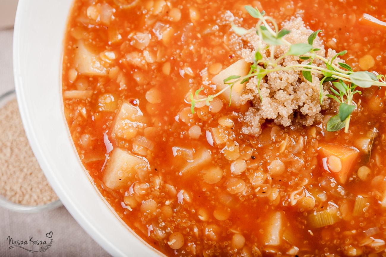 Warzywna zupa z amarantusem