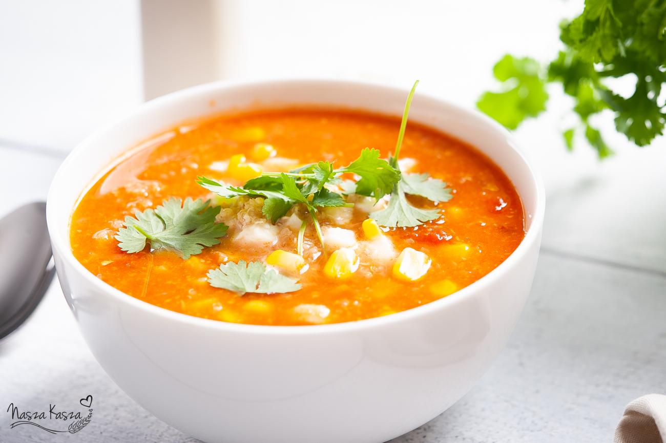 Zupa kukurydziana z komosą ryżową